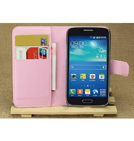 Bookwallet hoes Samsung Galaxy Core 4G lichtroze
