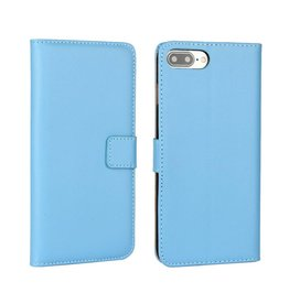 Bookwallet hoes iPhone 7 Plus / 8 Plus lichtblauw