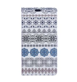 Wallet vintage bloem hoes Sony Xperia X