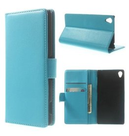 Bookwallet hoes Sony Xperia Z3 lichtblauw