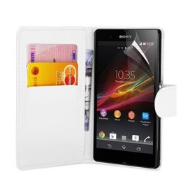 Bookwallet hoes Sony Xperia Z1 wit