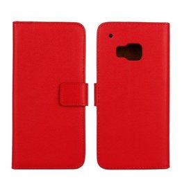 Bookwallet hoes HTC One M9 rood
