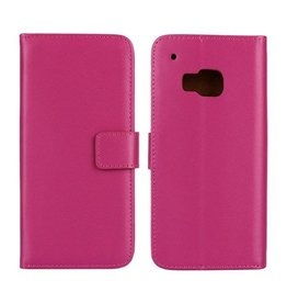 Bookwallet hoes HTC One M9 roze