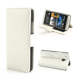 Bookwallet hoes HTC One Mini wit