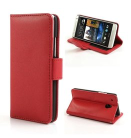 Bookwallet hoes HTC One Mini rood