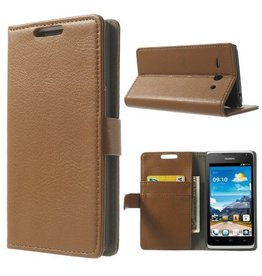 Bookwallet hoes Huawei Ascend Y530 bruin