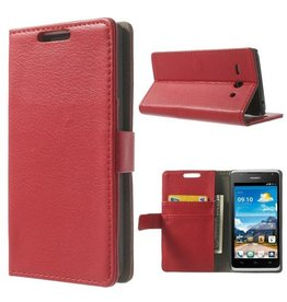Bookwallet hoes Huawei Ascend Y530 rood