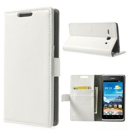 Bookwallet hoes Huawei Ascend Y530 wit