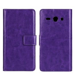 Bookwallet hoes Huawei Ascend Y530 paars