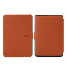 Sleepcover flip grid hoes Kindle Paperwhite 1 / 2 / 3 oranje