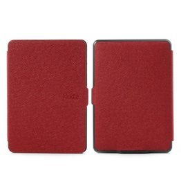 Sleepcover flip grid hoes Kindle Paperwhite 1 / 2 / 3 rood