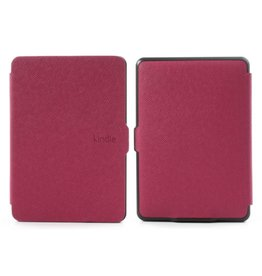 Sleepcover flip grid hoes Kindle Paperwhite 1 / 2 / 3 roze