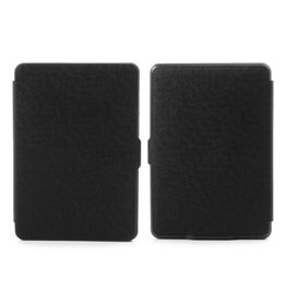 Lunso Sleepcover flip grid hoes Kindle Paperwhite 1 / 2 / 3 zwart