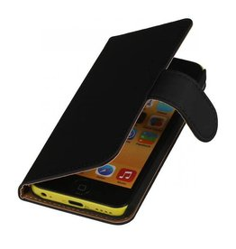 Bookwallet hoes iPhone 5c zwart