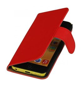Bookwallet hoes iPhone 5c rood