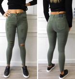 Ripped Jeans Groen