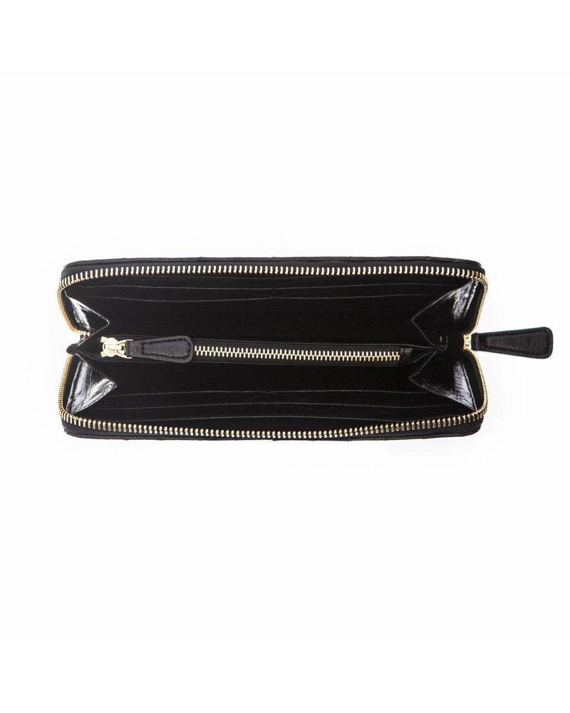 Pamina wallet black gold zipper