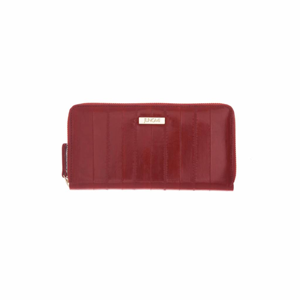 e0b217eb8c06 Wallet in red made from exclusive eelskin - JUNGMI