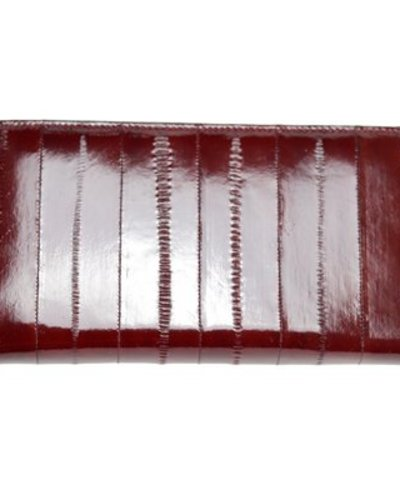 e3543889cba0 Wallet in m-brown made from exclusive eelskin - JUNGMI