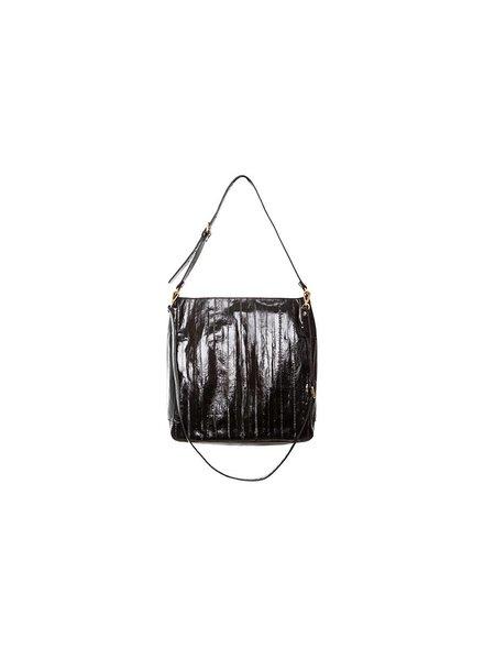 Cleopatra handbag black magnetic seal