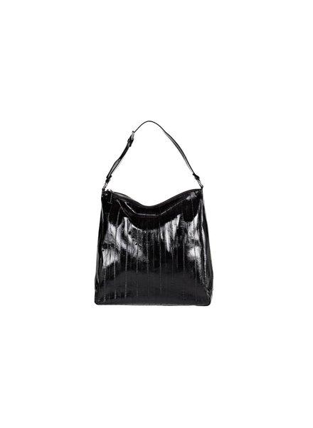 Cleopatra black silver zipper