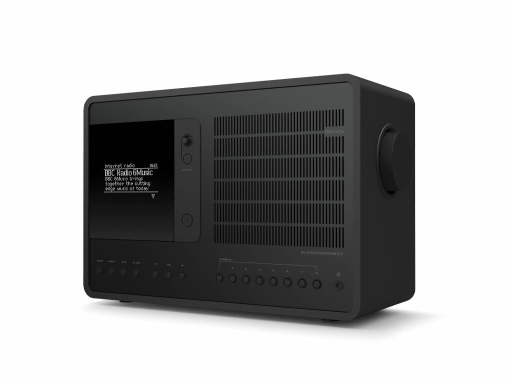 Revo SuperConnect - DAB+ - internet radio en Spotify - Zwart/Zwart