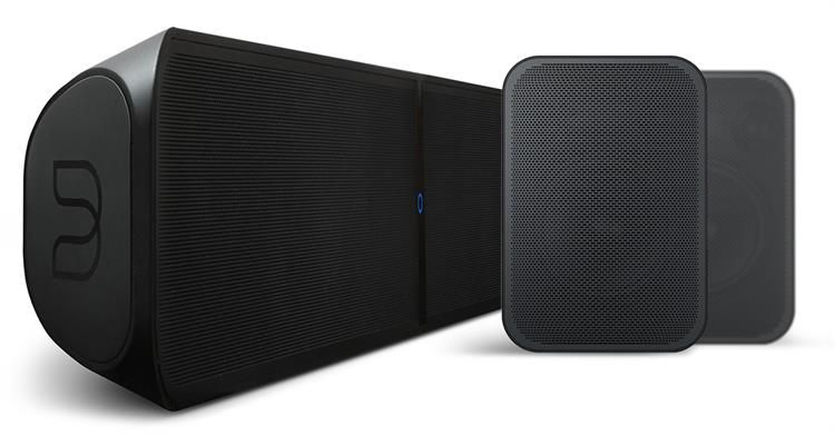 Bluesound Pakketprijs: Pulse Soundbar + 2X Pulse Flex Surround Systeem  - Zwart