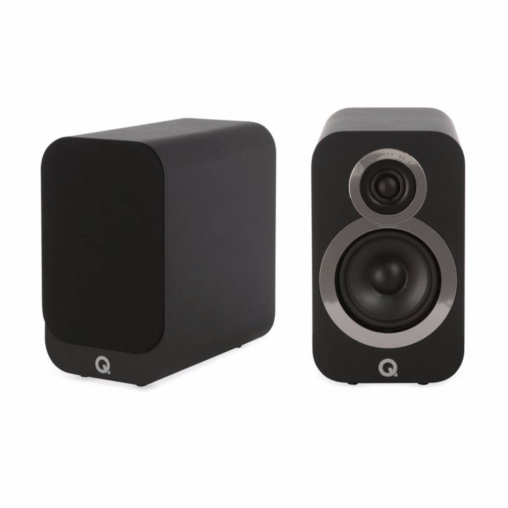 Q Acoustics Q-Acoustics 3010i - Boekenplank Luidsprekers - Zwart ( per paar )