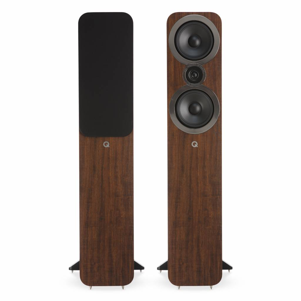 Q Acoustics 3050i - Vloerstaande Speakers - Walnoot  (per paar)