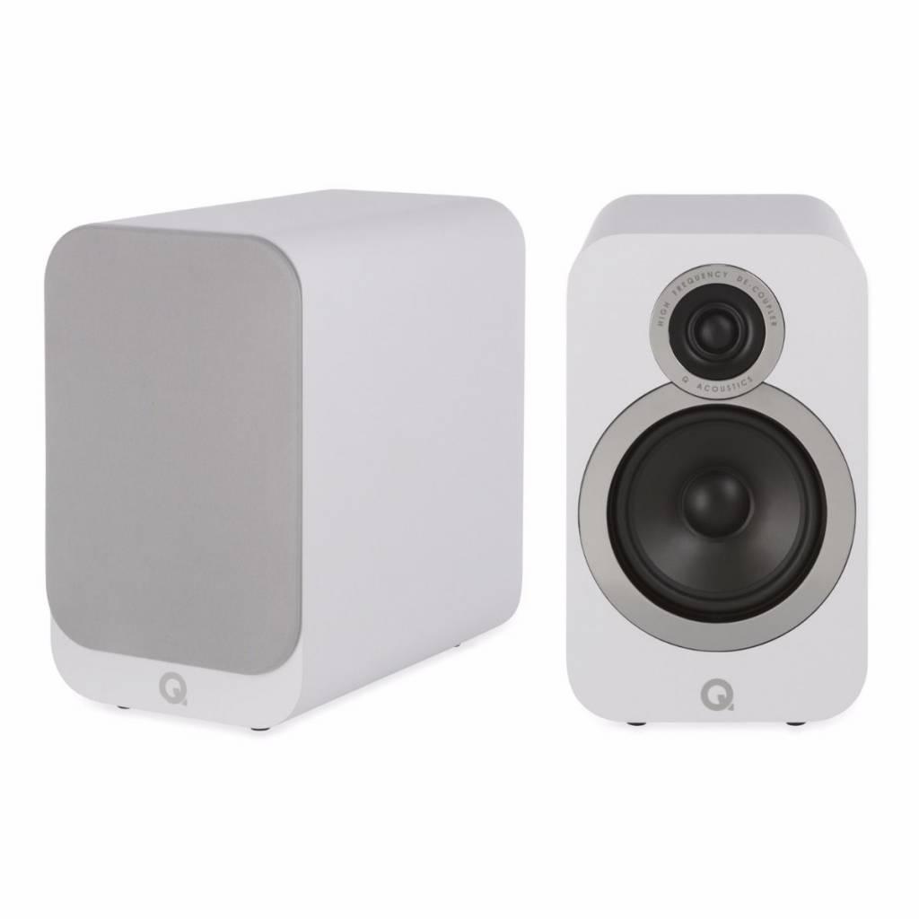 Q Acoustics 3020i - Boekenplank Luidsprekers - Wit ( Per Paar )