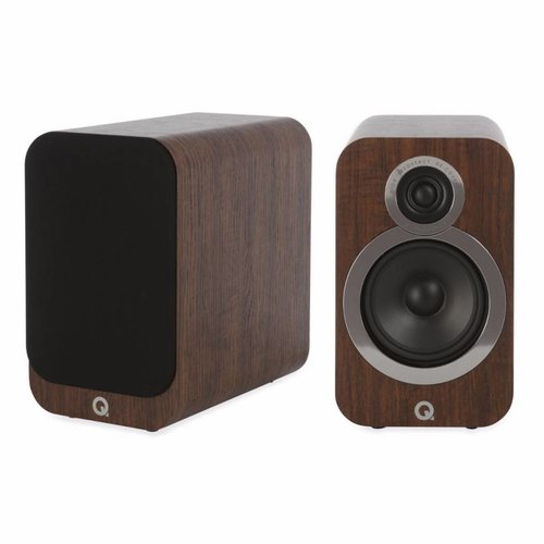 Q Acoustics 3020i- Boekenplank Luidsprekers - Walnoot ( per paar )