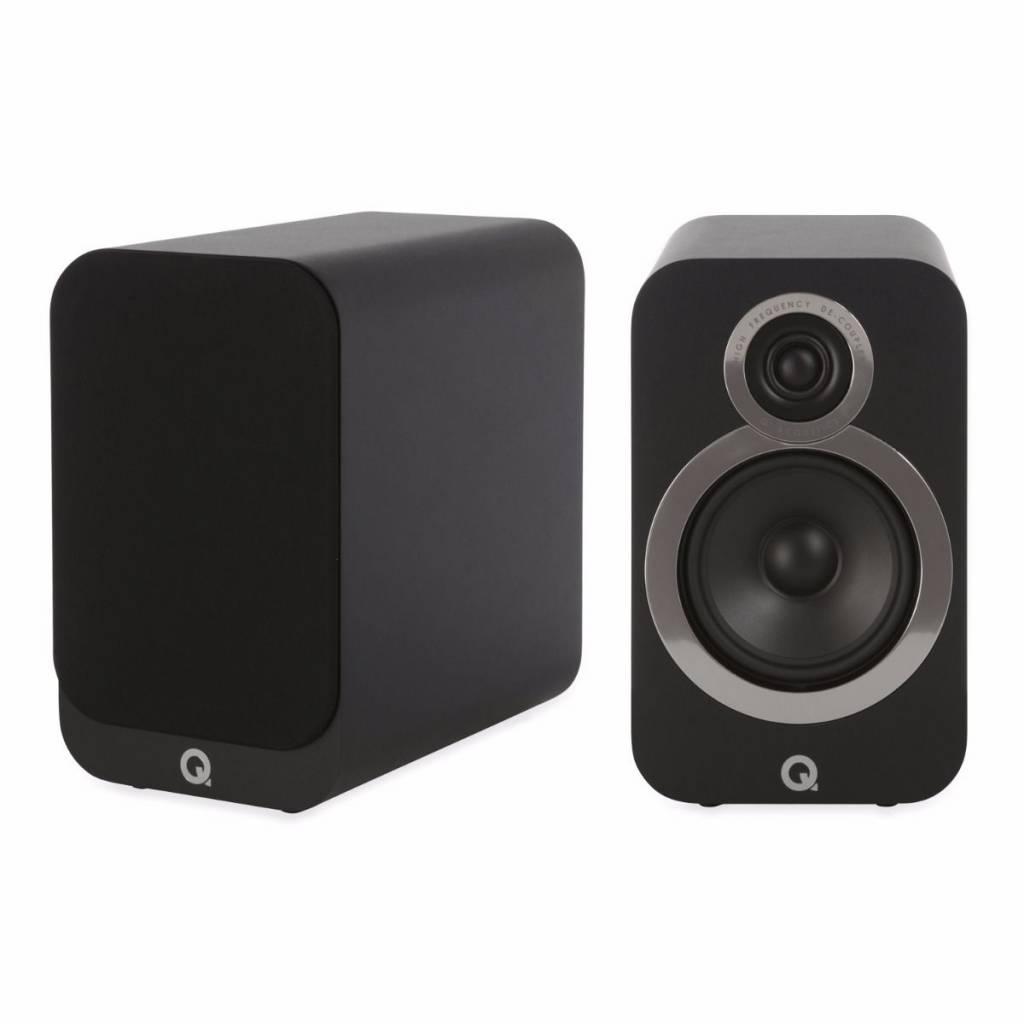 Q Acoustics 3020i - Boekenplank Luidsprekers - Zwart ( per paar ) ( Tweedekans )