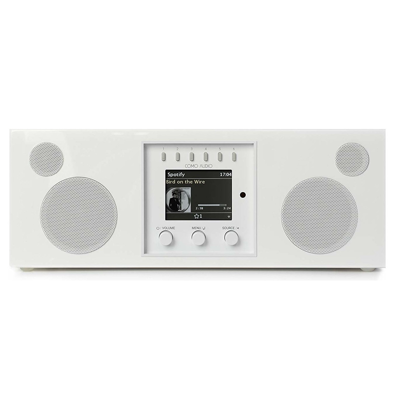 Como Audio Duetto DAB + / FM-radio met internetradio - Wit