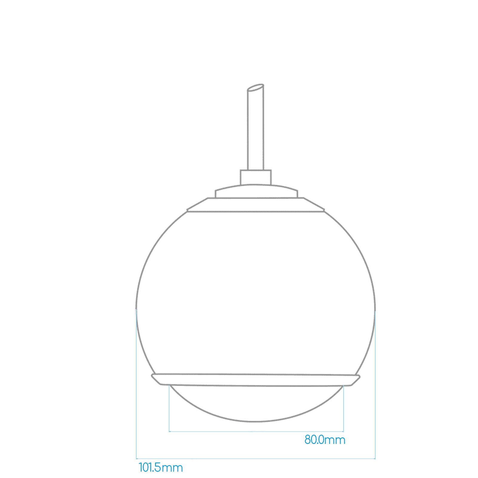 Gallo Acoustics Gallo Micro Droplet - Hangende Speaker - Rood