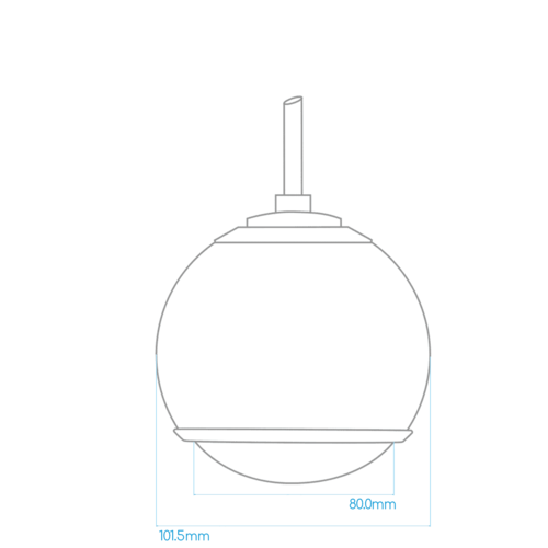 Gallo Acoustics Gallo Micro Droplet - Hangende Speaker - Mat Wit (Per Stuk)