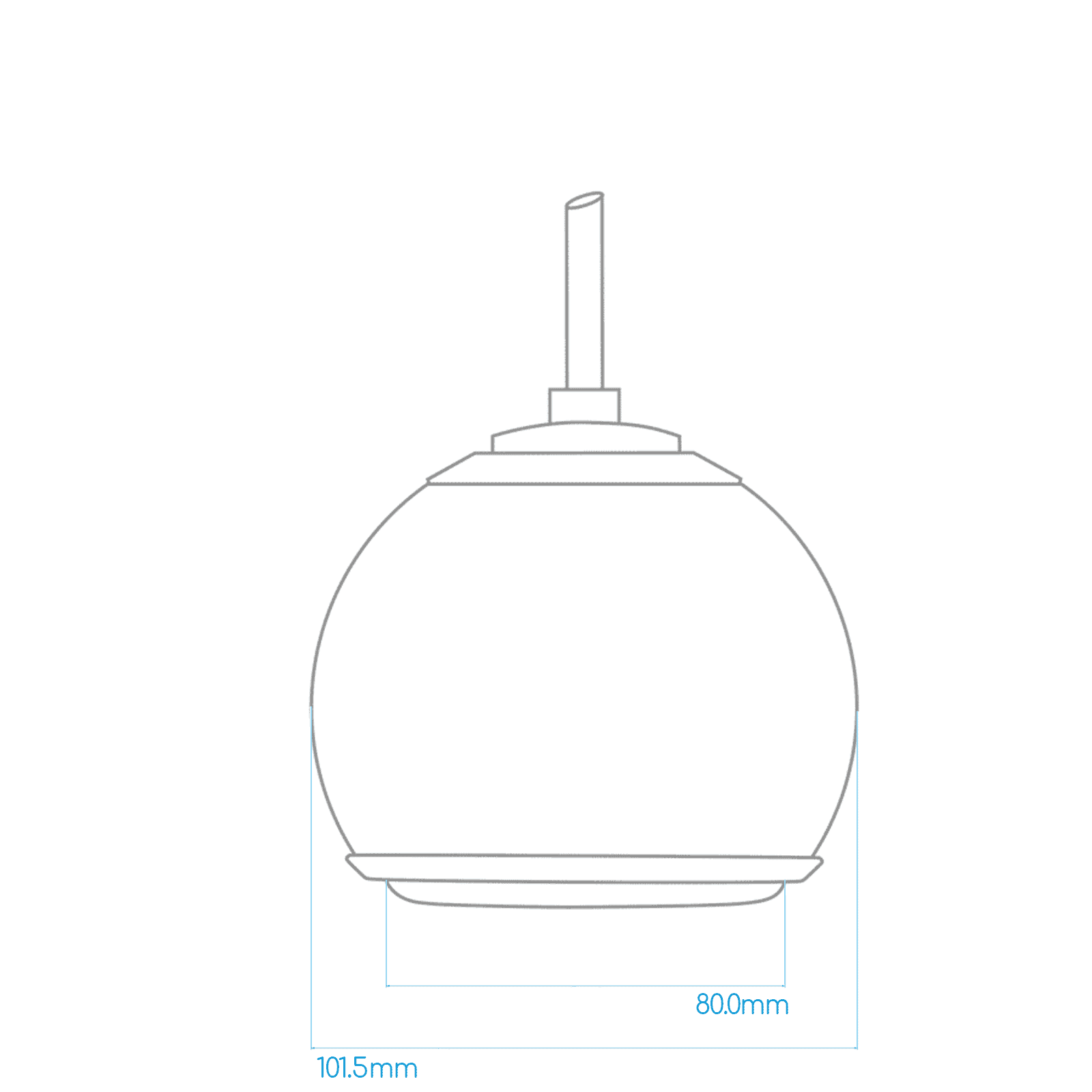 Gallo Acoustics Gallo SE Micro Droplet - Hangende Speaker - Rood