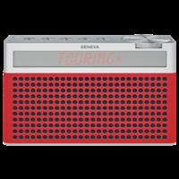 Touring / S+ oplaadbare portable hi-fi DAB+ en FM radio met Bluetooth rood