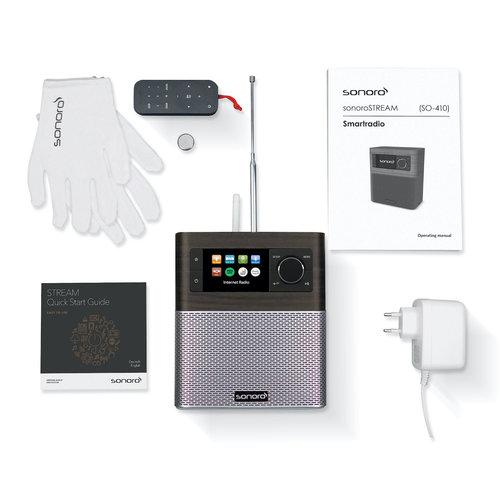 Sonoro Sonoro STREAM V2 - FM/DAB+ radio - internet radio - WiFi - BlueTooth - Wifi - Bruin/Zilver