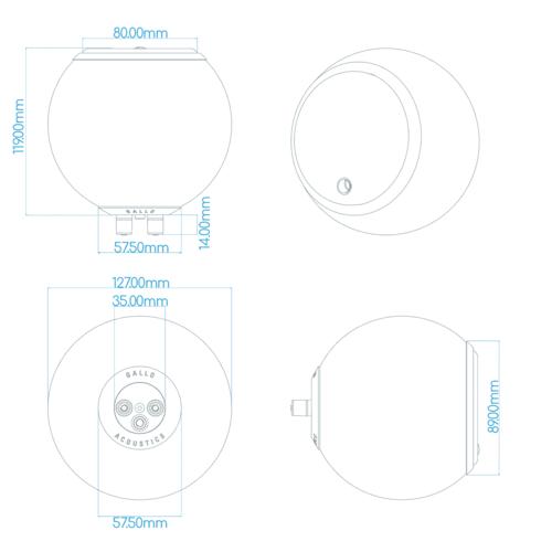 Gallo Acoustics Gallo Acoustics A'Diva SE - Luidspreker - Hoogglans Wit ( Per Stuk ) - Copy