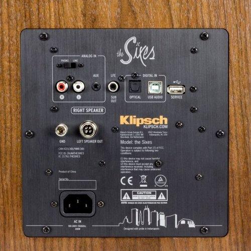 Klipsch Klipsch The Sixes actieve boekenplank speakers - walnoot (per paar)