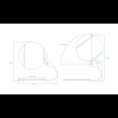 Gallo Acoustics Gallo Acoustics Micro tafelstandaard/ plafondmontage - Zwart