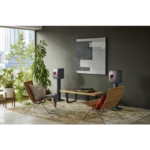 KEF Kef LS50 Wireless 2 Boekenplank speaker Titanium Grey (per paar)