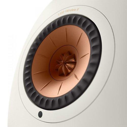 KEF Kef LS50 Wireless 2 Boekenplank speaker Mineral White (per paar)