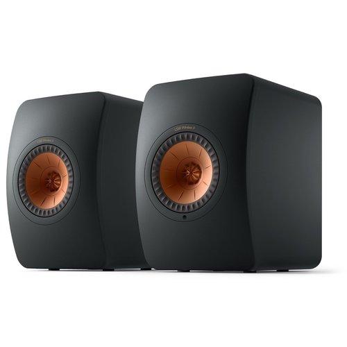 KEF Kef LS50 Wireless 2 Boekenplank speaker Carbon Black (per paar)