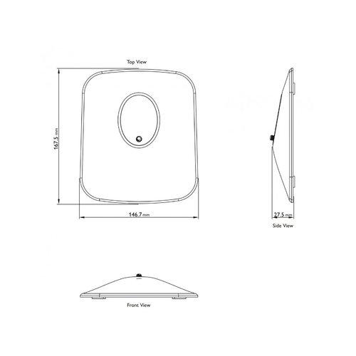 KEF KEF P1 Desk pad tafelstandaard - Zwart (per paar)