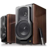 S2000MKIII bluetooth 5.0 met aptx boekenplank speakers - Walnoot