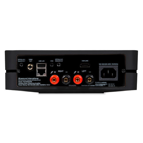 Bluesound Bluesound Powernode met HDMI- Draadloze Muziek Streaming-versterker - Zwart