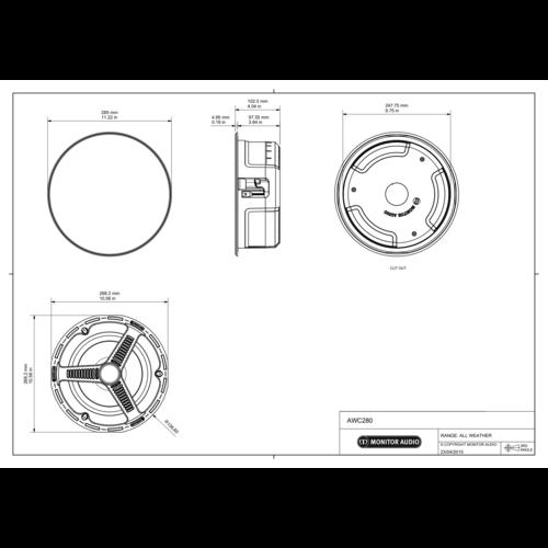 Monitor Audio Monitor Audio AWC280 All Weather inbouw speaker