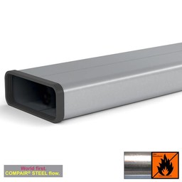 Naber Afvoer dampkap platte buis 150mm Compair Steel Flow 500