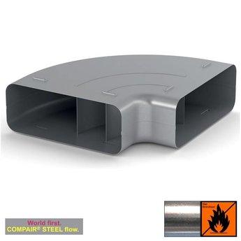 Afvoer afzuigkap horizontale bocht Compair Steel flow